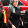Hilary Duff is seen arriving at The New York Post headquarters