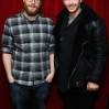 Actors Seth Rogen (L) and James Franco visit at SiriusXM Studios on December 15, 2014