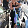 Julianne Hough is surrounded by paparazzi as she leaves the gym