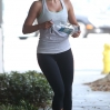 Julianne Hough works out at a gym in West Hollywood