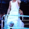 Justin Bieber performing in concert during his 2013 'Believe Tour' at MGM Grand Garden Arena