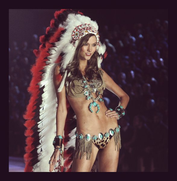 Kloss walks the runway during the 2012 Victoria's Secret Fashion Show