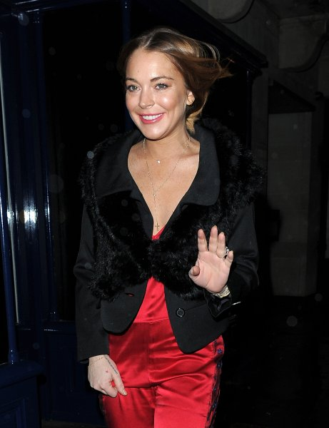 Celebrities attend Sunday Times Style - Christmas party at Tramp Club Featuring: Lindsay Lohan Where: London, United Kingdom When: 09 Dec 2014 Credit: WENN.com