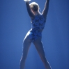 Miley Cyrus performs onstage at the 2013 American Music Awards held at Nokia Theatre L.A