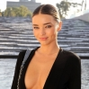 Miranda Kerr attends the Louis Vuitton show as part of the Paris Fashion Week Womenswear Spring/Summer 2015 on October 1, 2014 in Paris, France.
