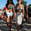 Rihanna spends some time on the beach prior to her performance at the Heineken Open'er Festival in Gdynia
