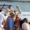 Ryan Seacrest and friends enjoying a holiday in the sunshine at Nikki Beach in Saint Barthelemy