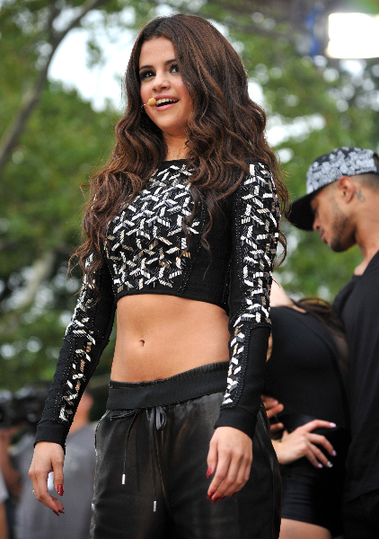 """Selena Gomez performs during ABC's """"Good Morning America"""""""