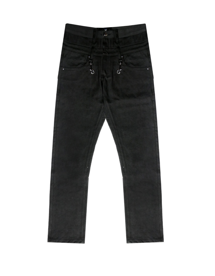 Double Waisted Patch Denim