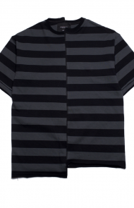 Reconstructed Oversized Stripe T-Shirt