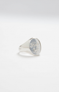 F.O. Pinky Ring-Hand Made and Engraved in NYC