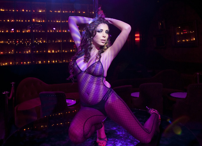Photos of strippers doing shows