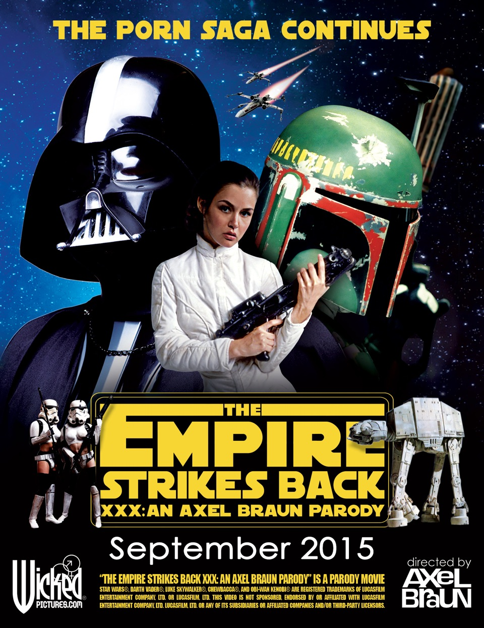 Empire Strikes Back XXX Poster