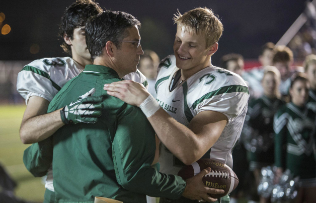 When the Game Stands Tall hug