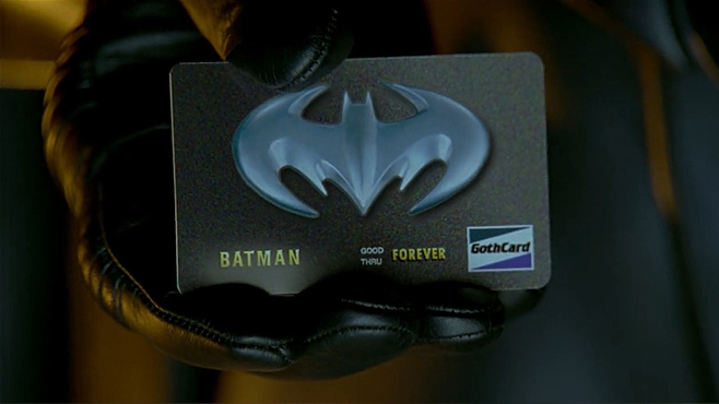 Batman and Robin Bat Credit Card