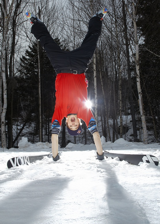 Nick Goepper poses for a portrait at Mount Snow, VT, USA, on 7 February 2013.