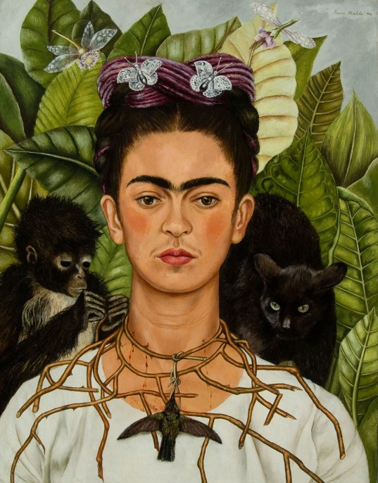 NYBG_Frida_Kahlo_Self-Portrait_with_Thorn_Necklace_and_Hummingbird