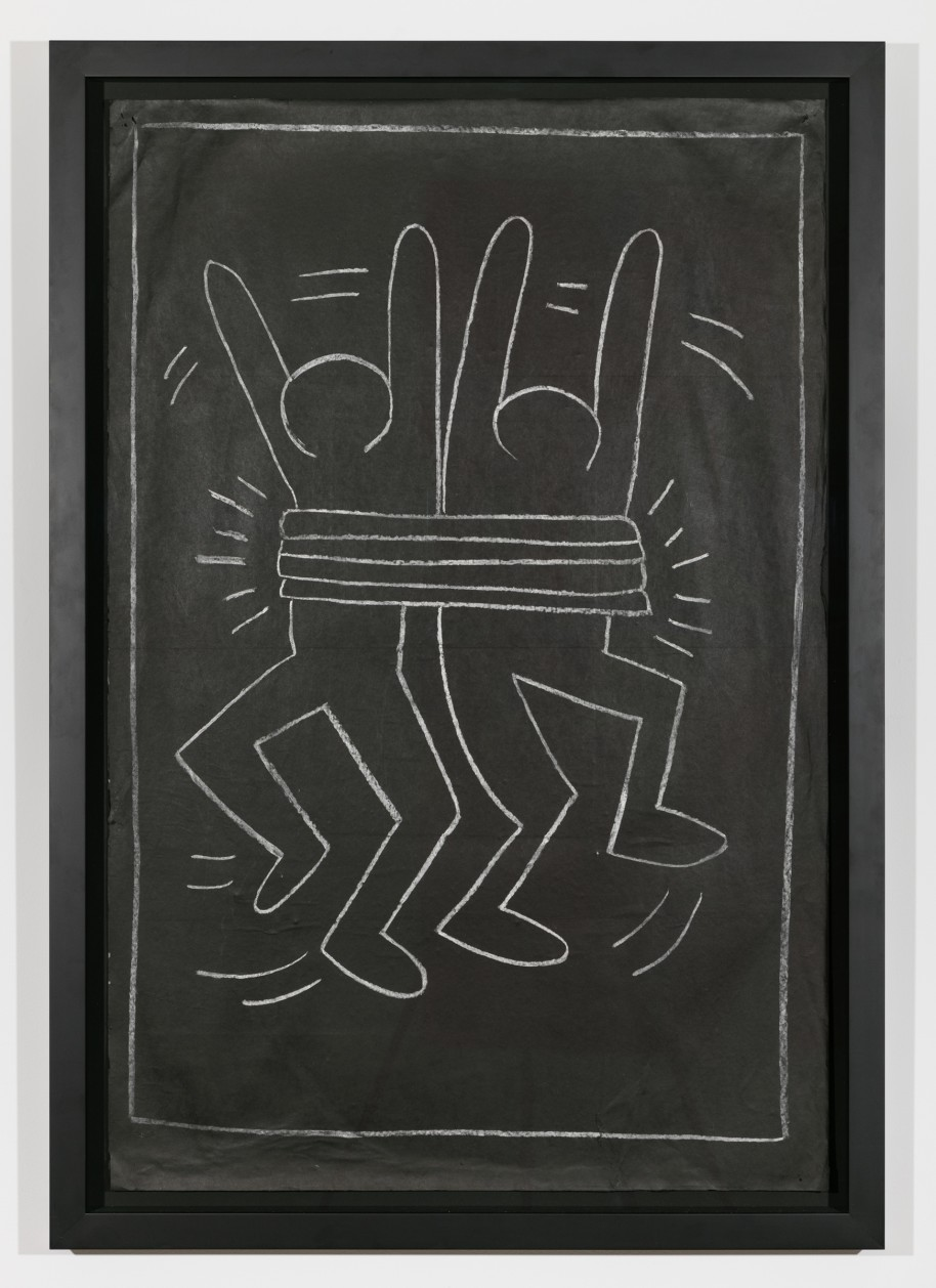 Keith Haring Untitled Subway Drawing, 1982 chalk on black paper 46 x 29 inches (116.84 x 73.66 cm). Courtesy Private Collection