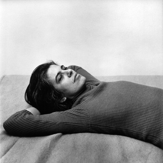 Susan Sontag, 1975 vintage gelatin silver print 19 7/8 x 15 7/8 inches 50.5 x 40.3 cm estate and copyright stamp verso in ink; signed verso in pencil by Stephen Koch, for the Peter Hujar Archive