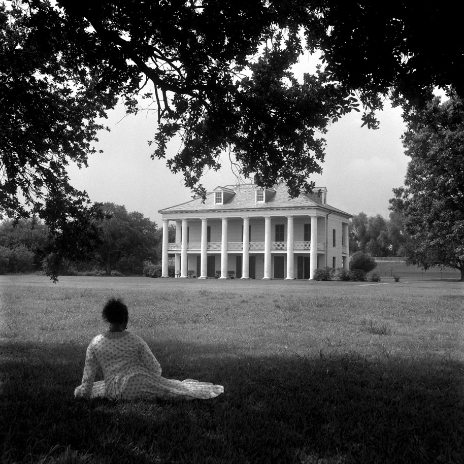 "Carrie Mae Weems. A Distant View. Gelatin silver print . 20"" x 20"""