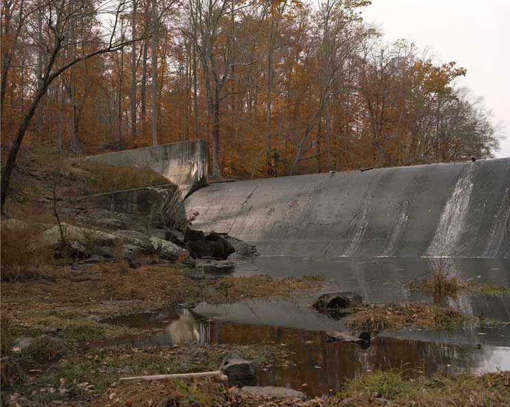 Mark Strandquist, Image of a dam, made in response to a description provided by a prisoner in Richmond County Jail, Virginia. Courtesy the artist.
