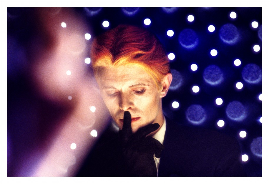 Steve Schapiro, David Bowie, New Mexico, 1975 . (The Man Who Fell To Earth). Archival pigment print, 30 x 40 inches. Courtesy Monroe Gallery, Santa Fe