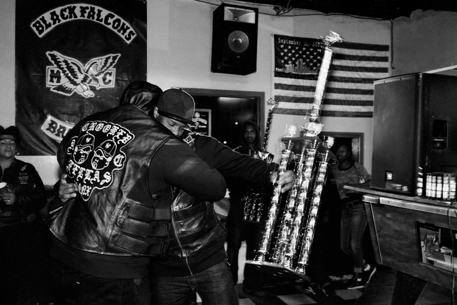 Choice, President of Black Falcons MC, Black Falcons Trophy Party. Bronx, 2016
