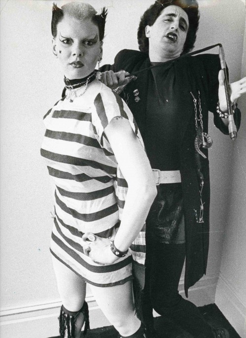 Soo Catwoman and Philip Salon, St James Apartment, 1976 © Ray Stevenson. Courtesy of Michael Hoppen Gallery.