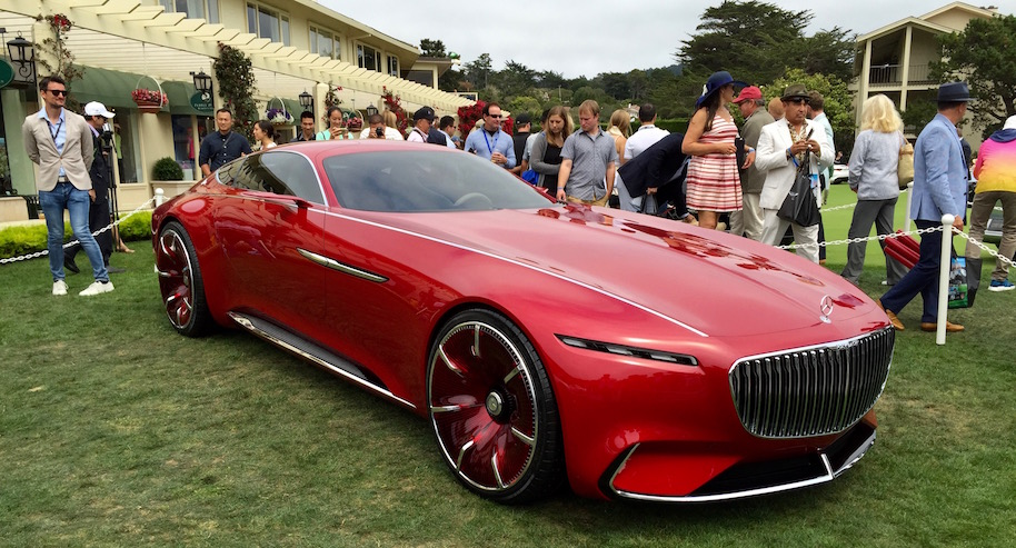 2016 pebble beach concours d'elegance: vision mercedes-maybach 6