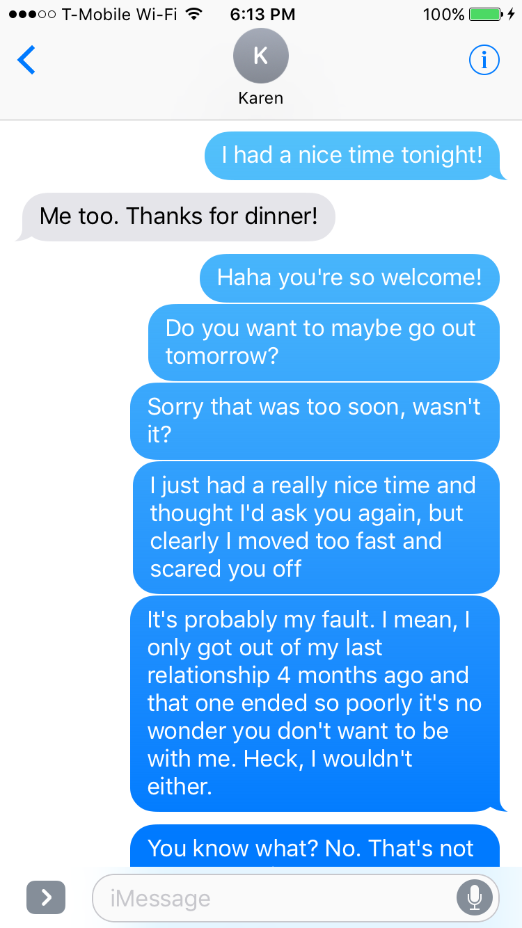 How Not To Text After A First Date - Mandatory