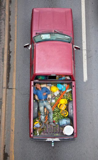 "Artwork: Alejandro Cartagena ""Carpoolers #23"" (2012). Courtesy the artist and Kopeikin Gallery, LA."