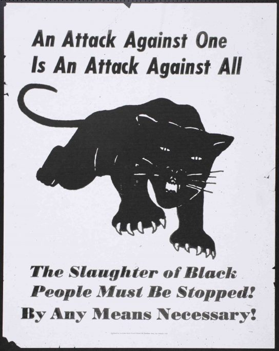 Unknown maker, An Attack Against One Is An Attack Against All, Late 20th century. Inkjet print on paper, 21 x 16.5 in. Collection of the Oakland Museum of California, All Of Us Or None Archive. Gift of the Rossman Family.