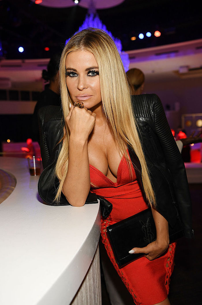 "LAS VEGAS, NV - SEPTEMBER 29: Carmen Electra attends the ""Cherry Boom Boom"" grand opening at the Tropicana Theater at Tropicana Las Vegas on September 29, 2016 in Las Vegas, Nevada. (Photo by Denise Truscello/WireImage )"