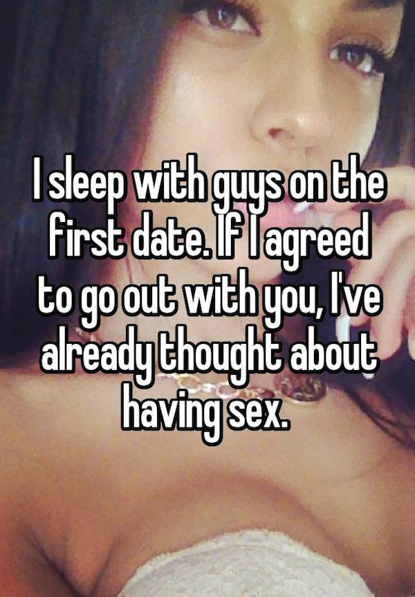 Having sex on the first date