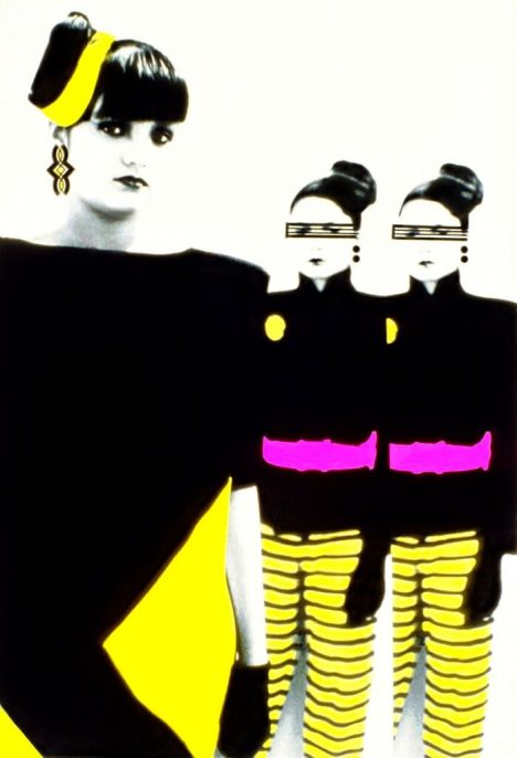 Patssi Valdez, The Chicana Clones, ca. 1980s, pigment print on metal, 36 x 24 inches. Courtesy of the artist.