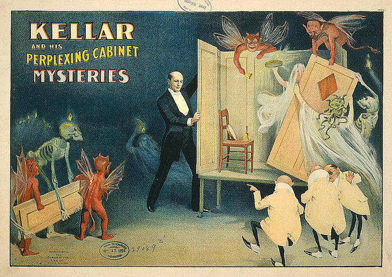 American magician Harry Kellar's show posters. Courtesy of the Public Domain Review