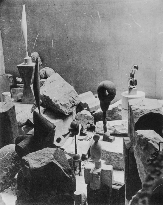 View of Constantin Brancusi's studio, 1923-1924