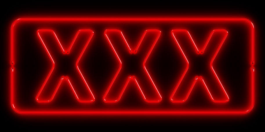 Neon signboard: XXX. Photo: CG-CREATiVE (Getty).