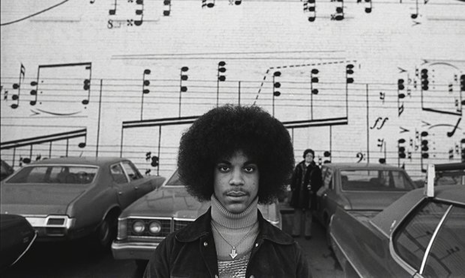 Prince in Minneapolis, 1977. Photograph NC1 RobertWhitman 2014 WENN