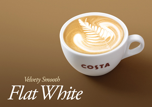 Types of coffee - flat white coffee
