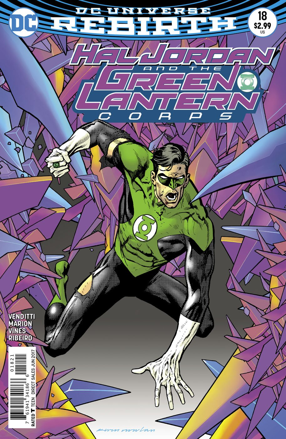 Hal Jordan and the Green Lantern Corps 18 open order variant cover