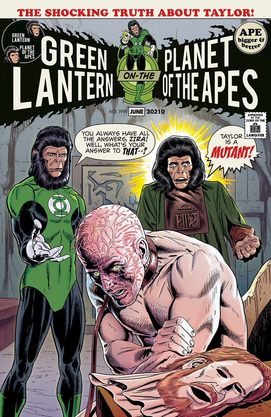 Planet of the Apes Green Lantern 4 Classic Variant Cover C