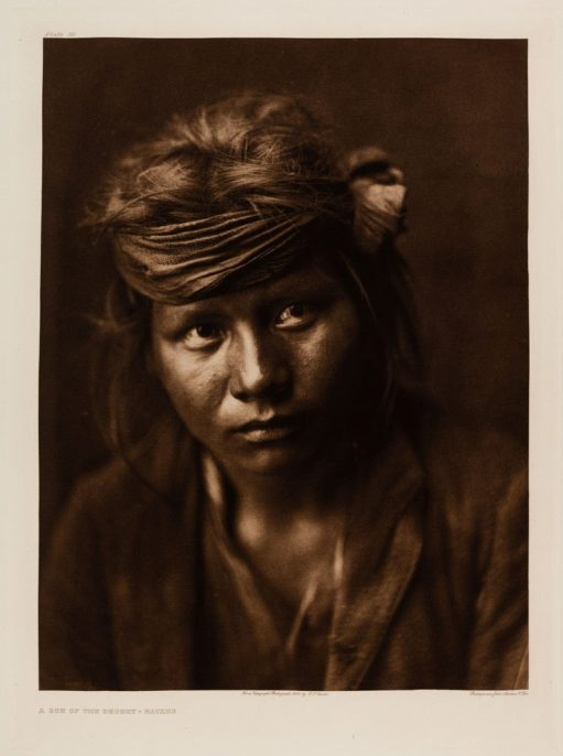 Edward Sherriff Curtis. The North American Indian. Portfolio 1, Plate 32. A Son of the Desert – Navaho, 1904,. Photogravure.
