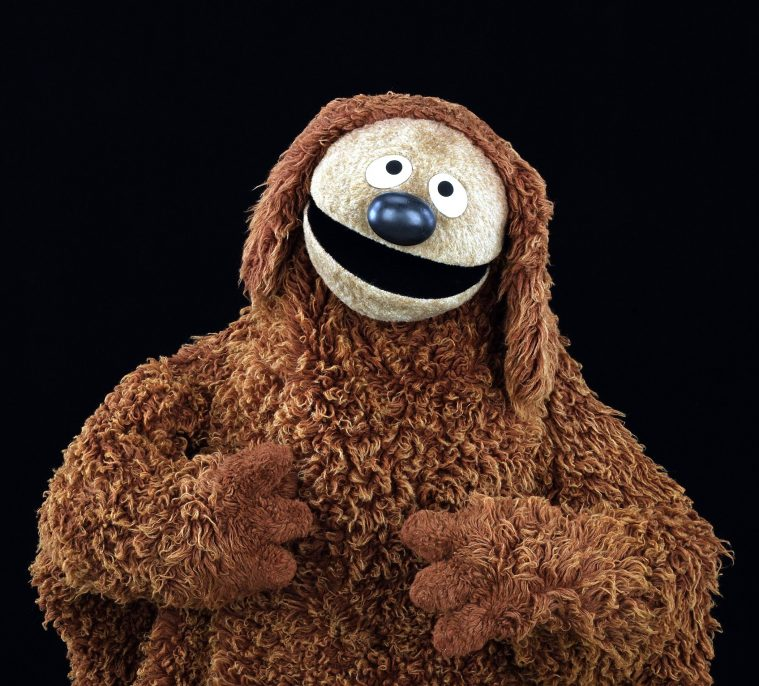 Rowlf the Dog became everyone's favorite piano player on The Muppet Show. Many of Jim's Muppet characters, including Rowlf, got their start in ads produced by Jim in the 1960s. Photo by John E. Barrett. © Disney/Muppets. Credit: Disney/Muppets / Museum of the Moving Image