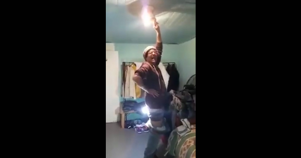 Bright Idea Man Puts Light Bulb Up His Ass And Actually