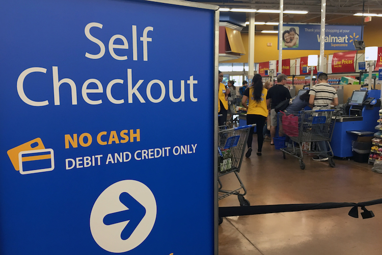 Woman At Walmart Pretends To Scan Items At Self-Checkout
