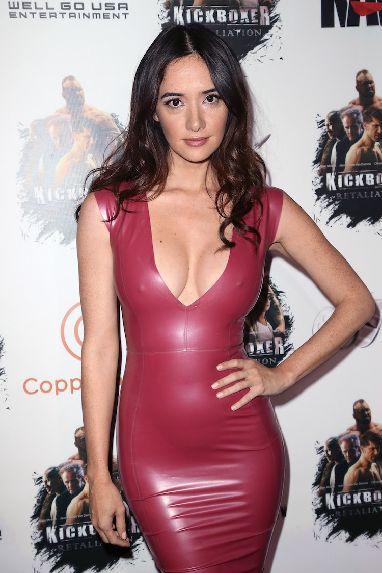 Sara Malakul Lane Was Sure Busting Out Of Her Dress