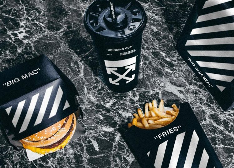 Black, minimalist McDonalds packing