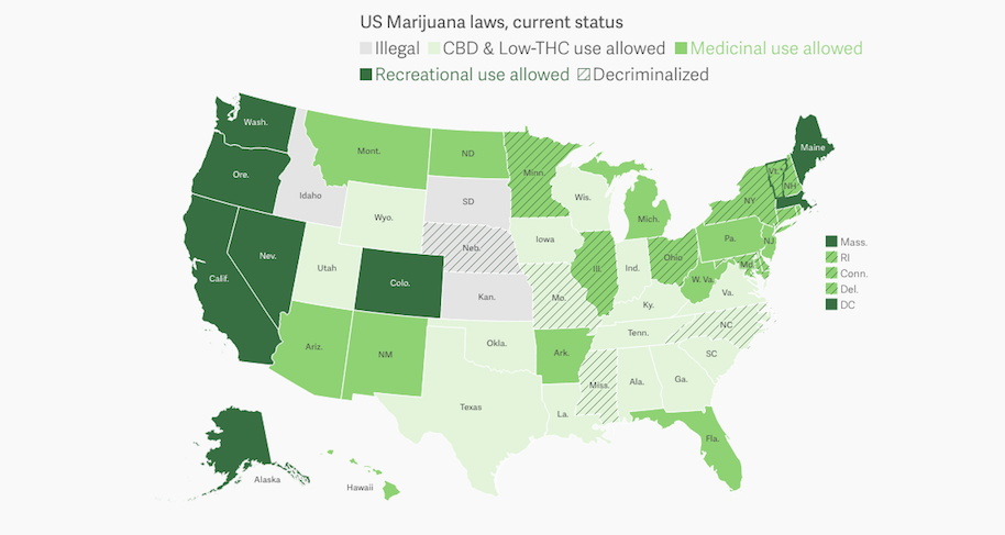 Here\'s A Reminder Where Marijuana Is Legal