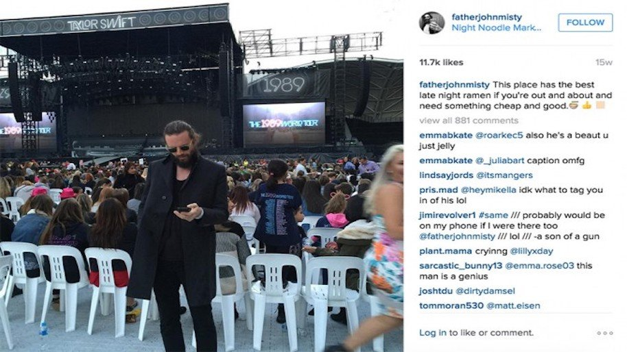 celebrity meltdowns social media, father john misty